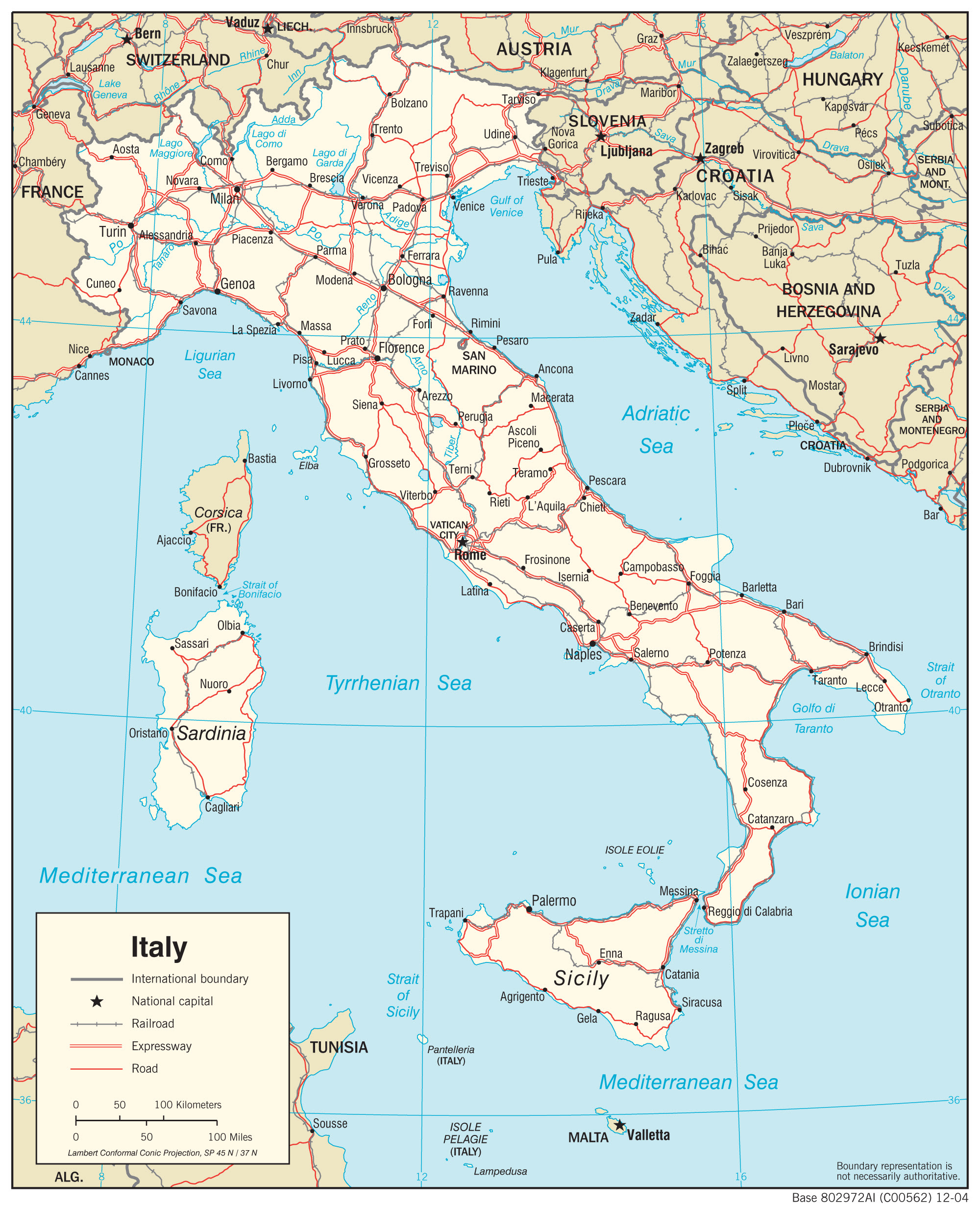 Map Of North East Italy.Italy Map Pdf Map North East