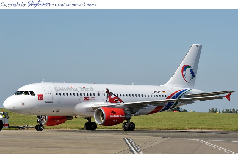 Gambia Bird's A319 leased from Germania D-ASTA