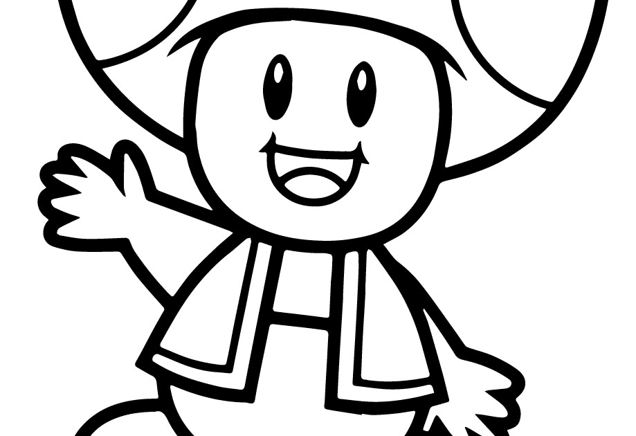 Kleurplaten Toad Yoshi.Beautiful Toad Coloring Pages From Super Mario Top Free Printable