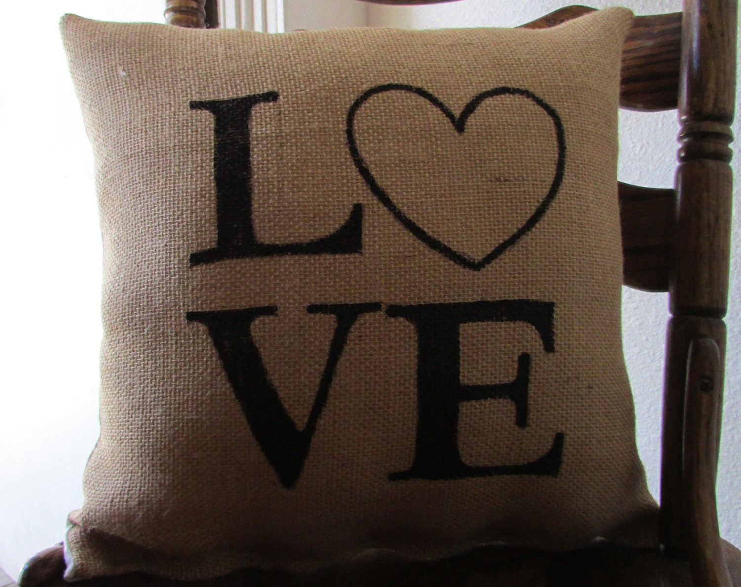 LOVE 16X16 Accent Valentines Day Pillow by Navybella on Etsy