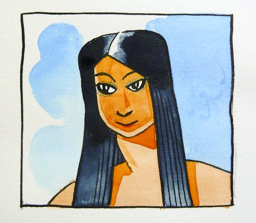 Sketchbook: A woman I have never met #1