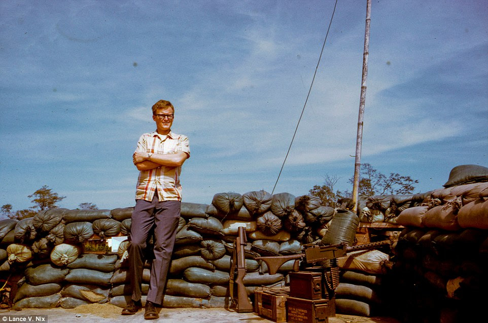 Portrait of the artist as a young man: Lance V. Nix at the Embassy House in My Tho, Dinh Tuong Province, Vietnam  in December 1968