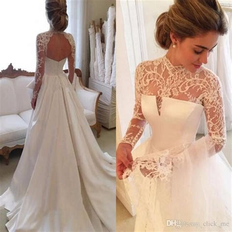 Discount 2017 Gorgeous Long Sleeve Wedding Dresses With