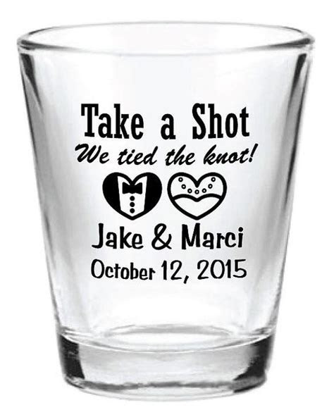 NEW Personalized 1.5oz Wedding Favors Glass Shot by