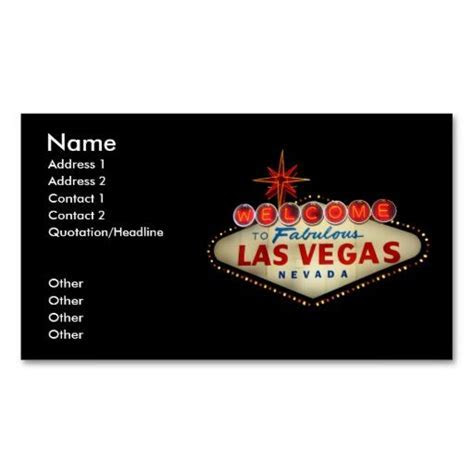 Las Vegas Sign Business Card   Travel Business Card