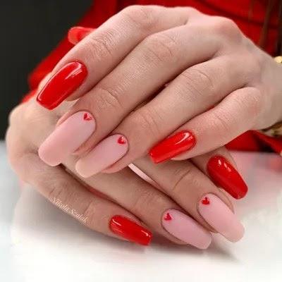 pink ombre nails matte