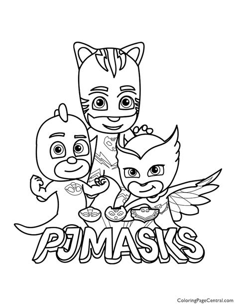 pj masks coloring page  coloring page central