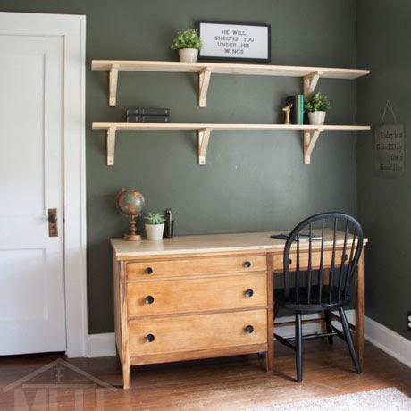 thrifted desk makeover refinish