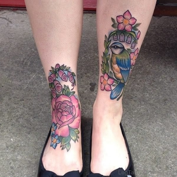 50 Impressive Birds Tattoos On Leg
