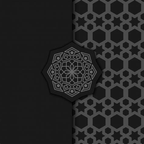 Luxury Ornamental Mandala Design Background In Dark Color