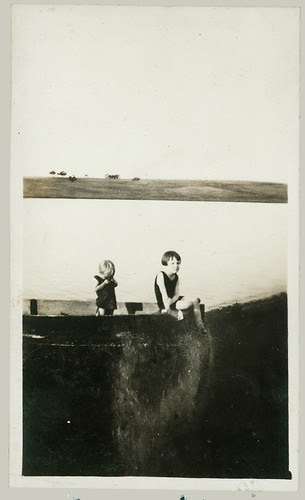 Two children in a boat