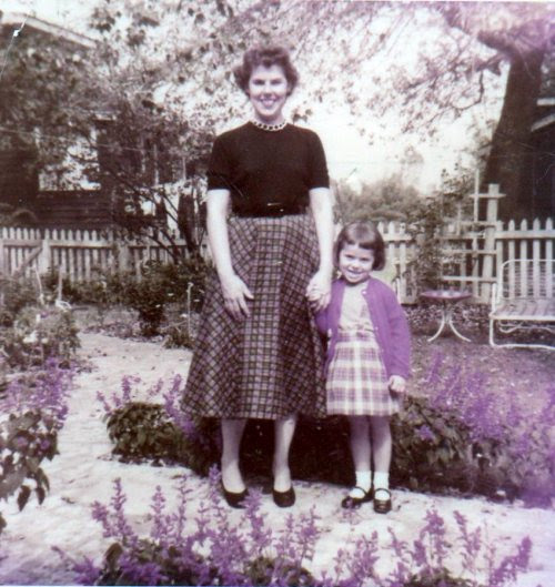 Hello…This is my Mother Gloria and my former four year old self. We are in my Grandmother's garden. As you can see I knew how lucky I was, even then. My Mother gave me many gifts…the most important one is a sparky imagination. She taught me to sew, to giggle and to share with others. So, I am sharing her with you today. Have hold on tight to your Mother's hand, Jody