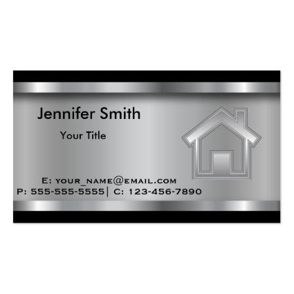 Real Estate Agent | Template | Professional Double-Sided Standard Business Cards (Pack Of 100)