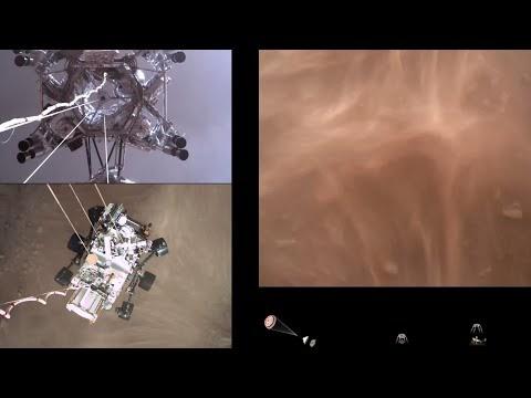 """Το πρώτο βίντεο από την επιτυχή προσεδάφιση του """"Perseverance"""" στον Άρη"""
