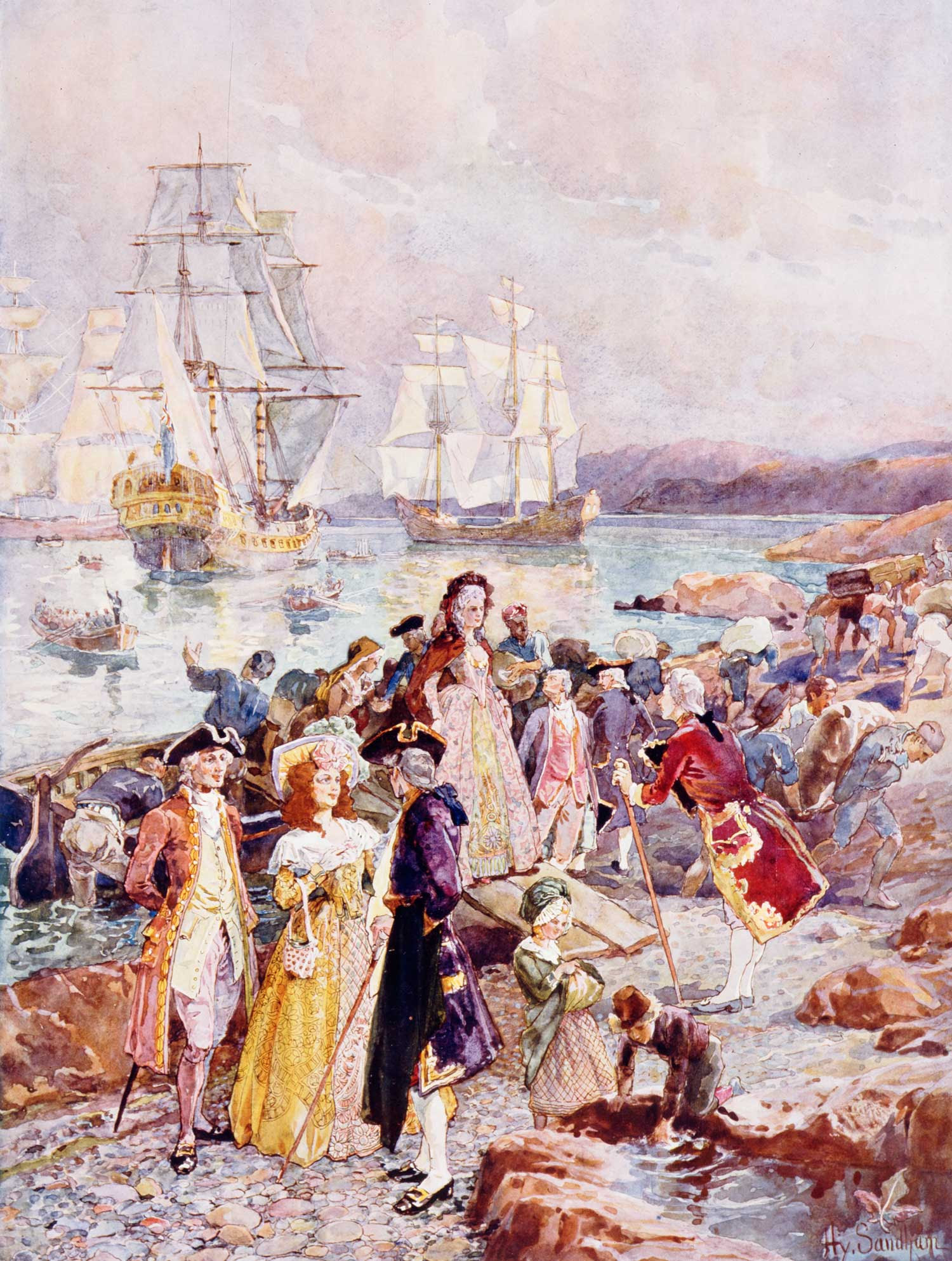 Henry Sandham: The Coming of the Loyalists