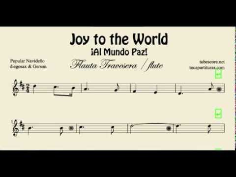 Tubescore Joy To The World Sheet Music For Flute And