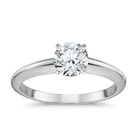 Classic Four Prong Solitaire Engagement Ring in 18k White