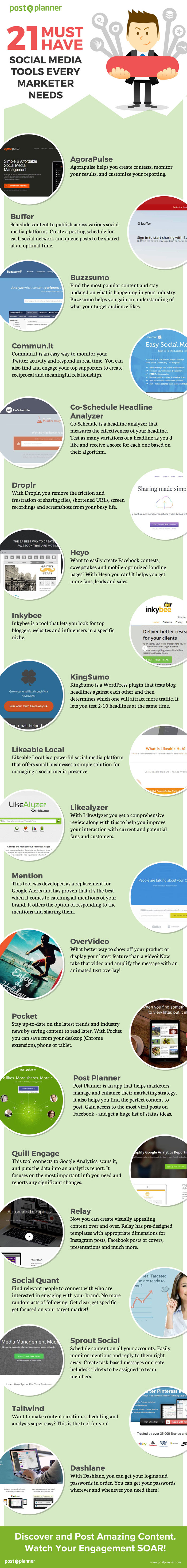 21 Must-Have Social Media Marketing Dashboards for Brainy Marketers (like You?) - #infographic