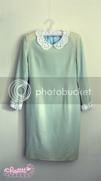 crocheted peter pan collar dress