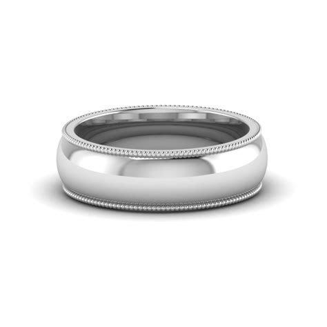 Milgrain Comfort Fit Mens Wedding Band Anniversay Ring In