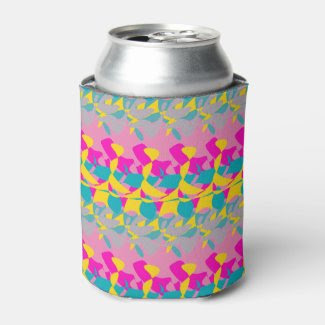 Psychedelic Design on Can Cooler