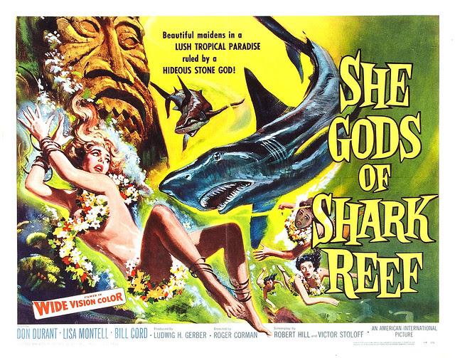 Reynold Brown - She Gods of Shark Reef (American International, 1958) half sheet