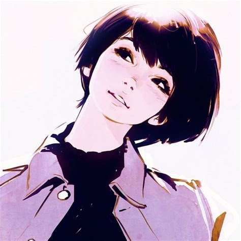 anime picture original krnprnz single blush short hair