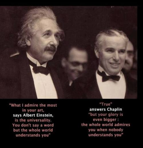 Science Einstein Film Quotes Chaplin Art And Science Asapscience