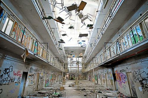 Az elhagyott carabancheli börtön, Madrid, Spanyolország