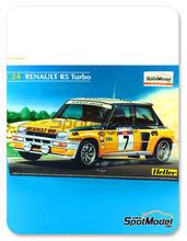 Maqueta de coche 1/24 Heller - Renault R5 Turbo ELF - Nº 7 - Jean Ragnotti - Tour de Corse 1982 - maqueta de plástico