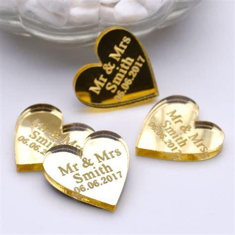 50pcs Personalized Engraved Love Heart shape ornament