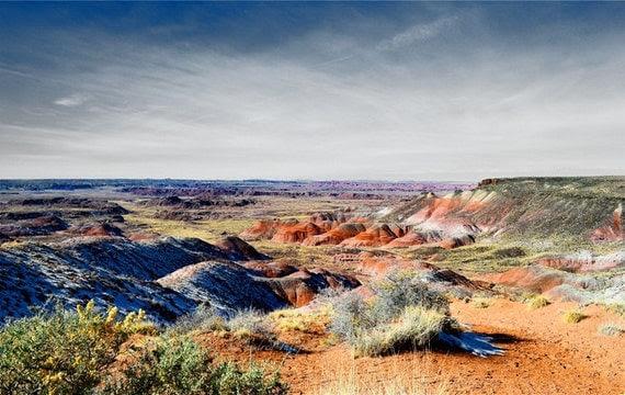 Painted Desert Photography Print 8x10 Fine Art Arizona Southwest Wilderness Winter Red Rock Landscape Photography Print.