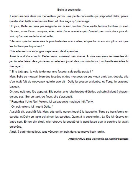 Texte De Lecture Ce2 Avec Questions De Compréhension ...