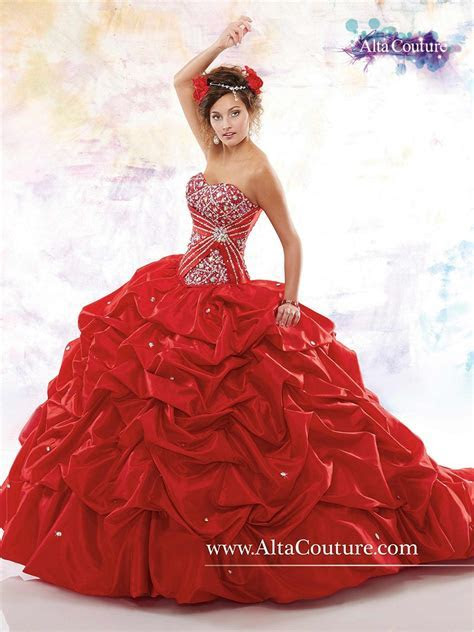 Marys 4T144 Quinceanera Dress Taffeta Pick Up Skirt