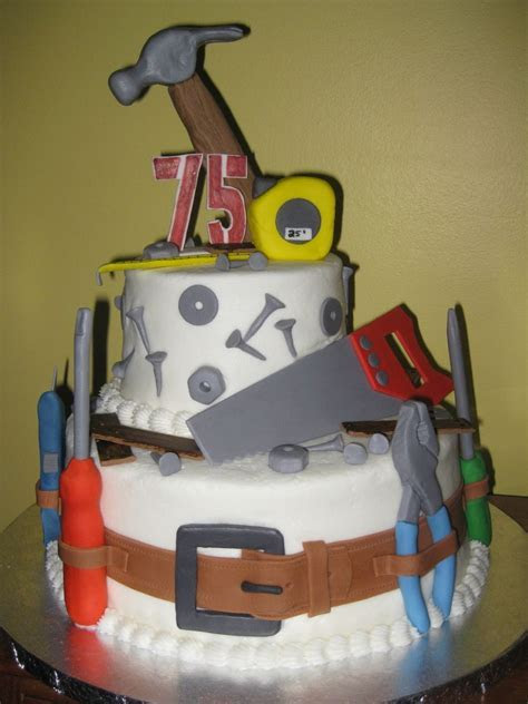 75Th Birthday Tool Cake on Cake Central   Cakes   Dad