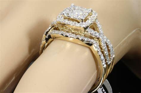 10K YELLOW GOLD 1.43 CARAT WOMENS REAL DIAMOND ENGAGEMENT