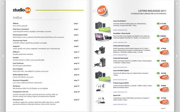 Catalogo Noleggio Fotografico - Attrezzature Fotografiche, Fotocamera Digitali 35mm e Medio formato, Luce Continua, Luce Flash