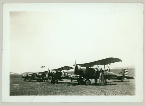 FIve biplanes