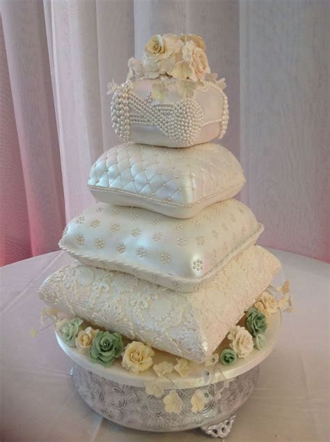 Pillow Wedding Cake.   CakeCentral.com