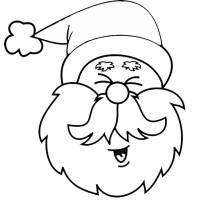 Disegno Di Viso Di Babbo Natale A Colori Per Bambini