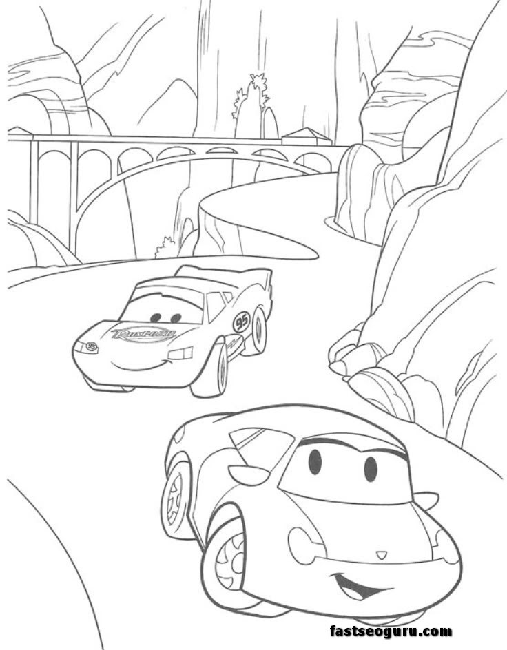 Cars Sally Mc Queen Printable Coloring Pages
