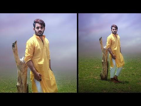 #everysundayviwerday 01 How to Cut Photo, change Background,Blur Backgro...