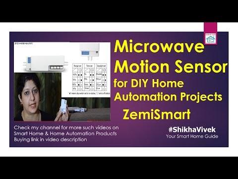 Microwave motion & light sensor for DIY Automation Projects | ZemiSmart