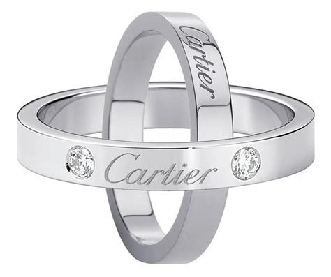 Cartier. Wedding rings engraved with Cartier   Wedding ring