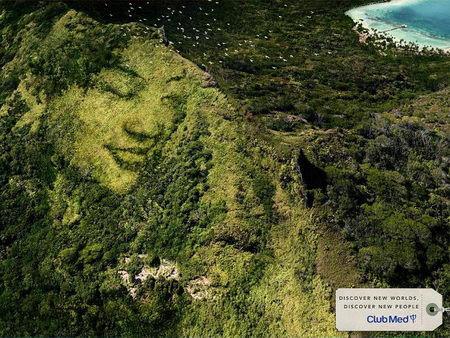 hidden face in ads design