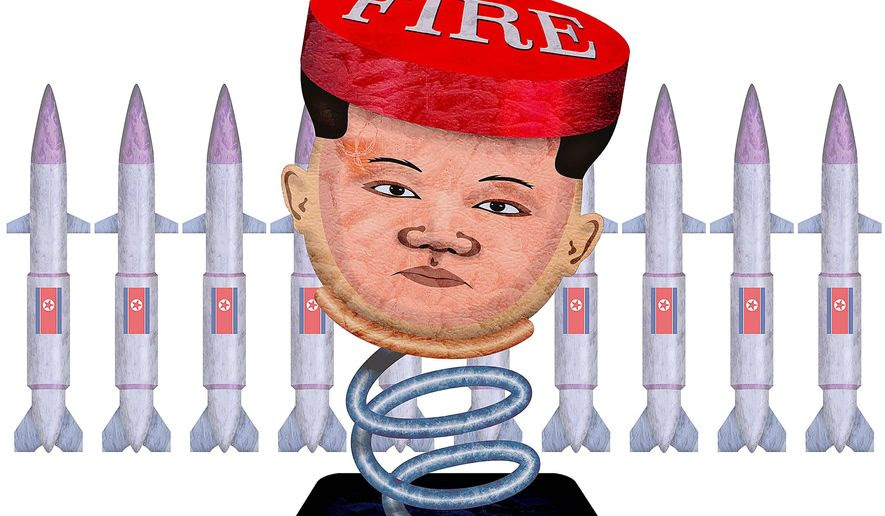 North Korean Nuclear War Threat Illustration by Greg Groesch/The Washington Times