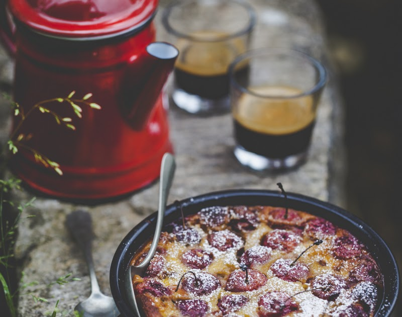 Cherry Coconut Clafoutis