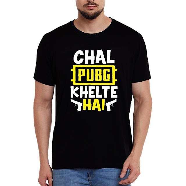 Men's Chal PUBG Khelte Hai T-Shirt Only For PUBG Lovers.