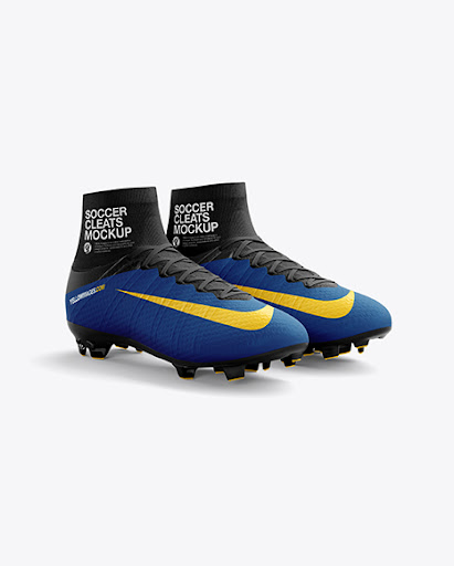 Download Cuffed Soccer Cleats (Half Side View) Jersey Mockup PSD ...