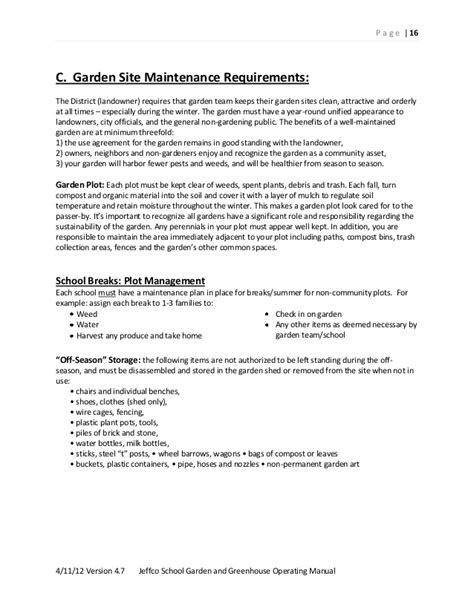 School Garden Greenhouse Manual